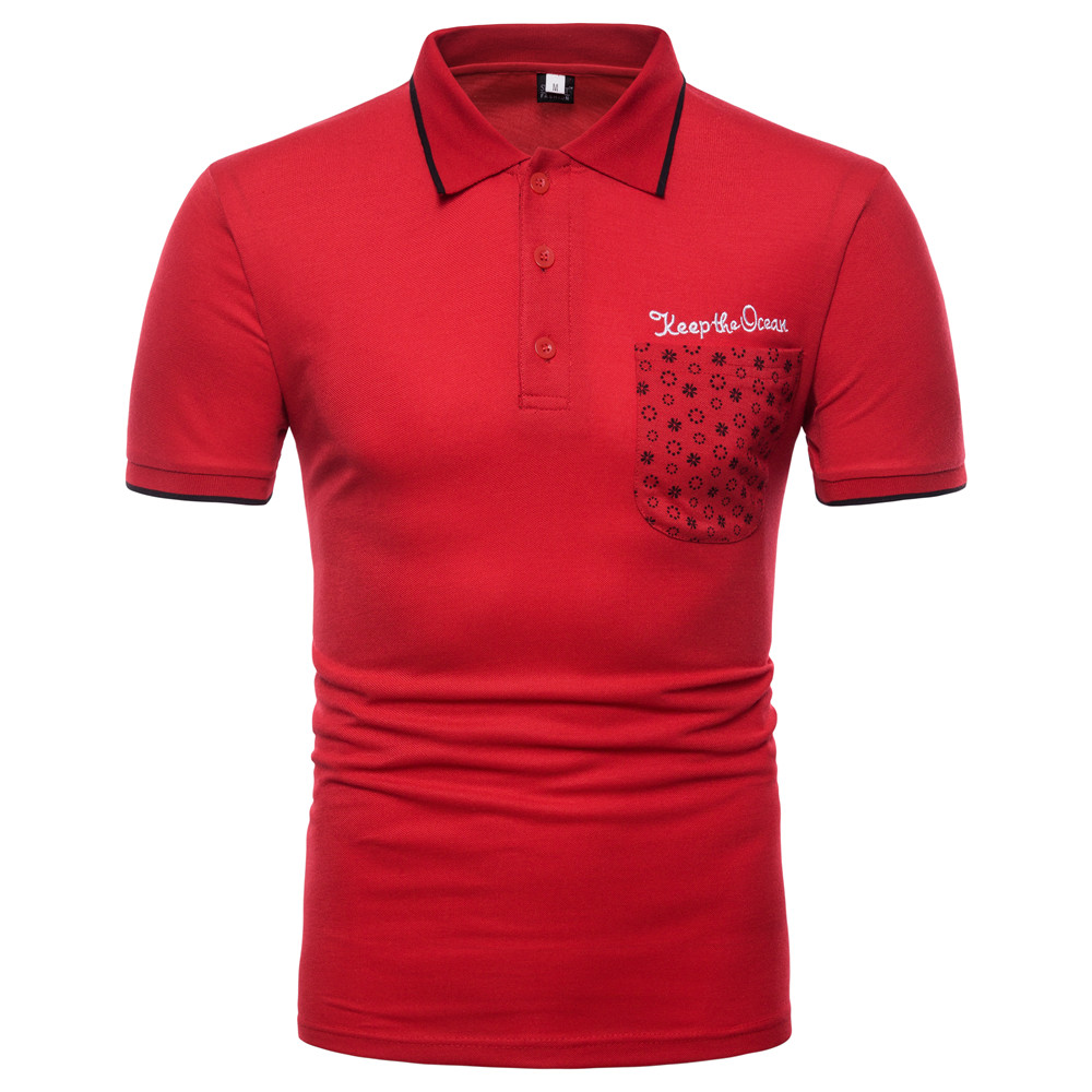 2018 new fashion embroidery mens   polo   shirt brands good quality short sleeve slim fit   polo   luxury men