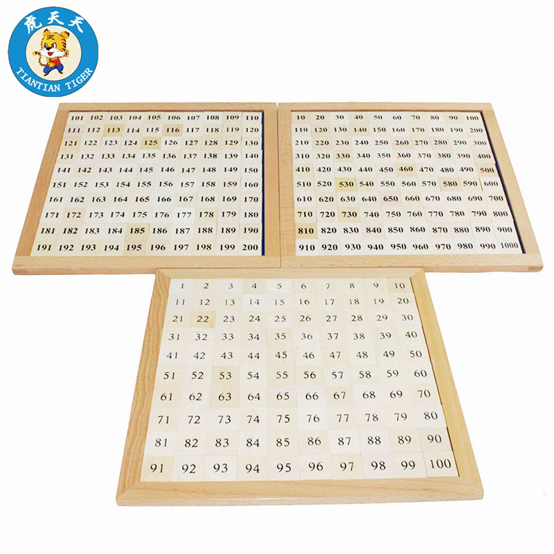 Bébé enfants jouets Montessori matériel éducation précoce jouets en bois nombre consécutif cent mille conseil