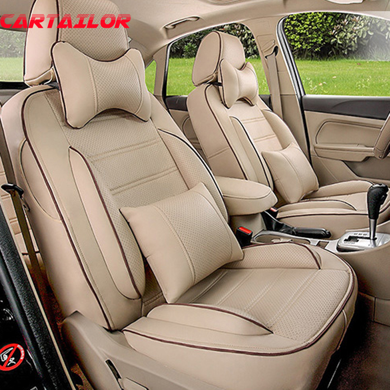 CARTAILOR car seat cover custom fit for Audi a5 seat covers cars interior accessories body kit black PU leather cover seats