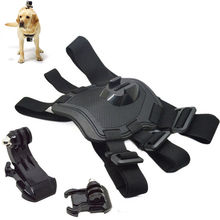 TELESIN Hound Adjustable Dog Fetch Harness Chest Strap Belt Mount for GoPro Hero 5 4 3+ 3 2 1 Action Camera Accesories