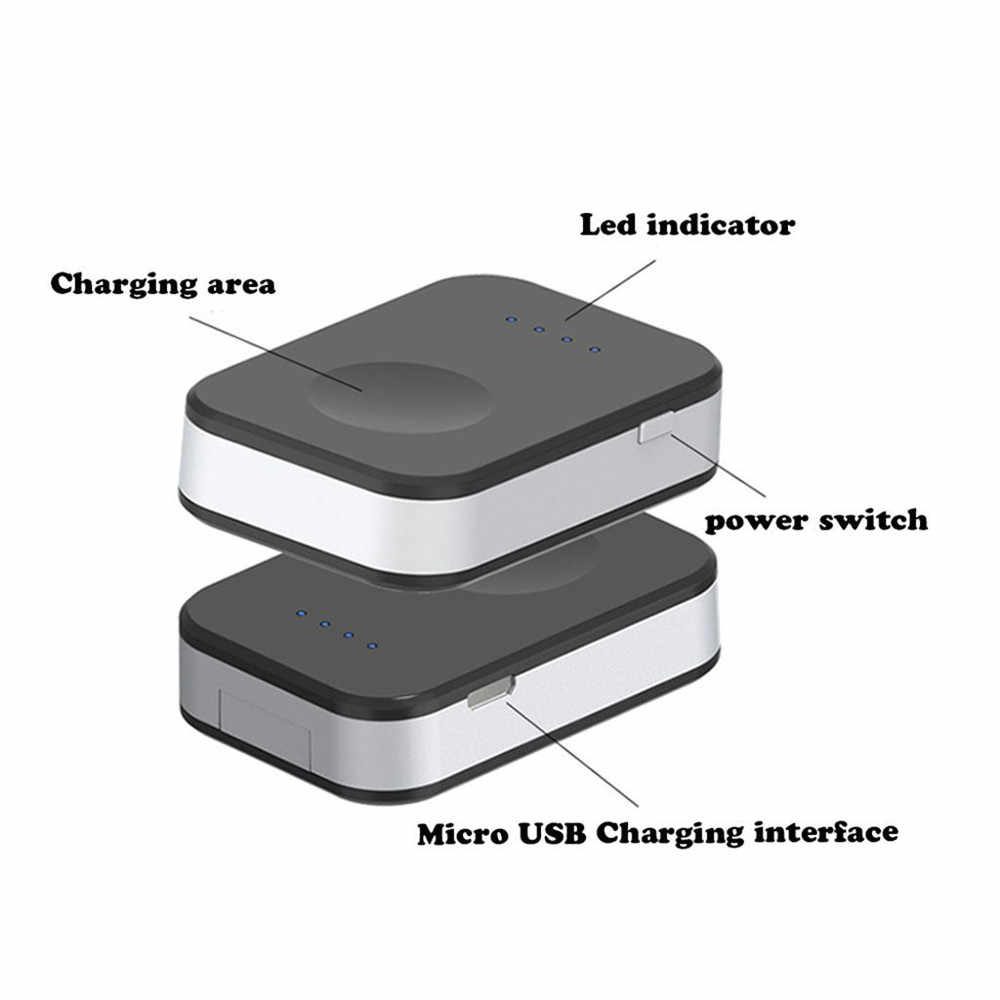 differently 7f2e9 f17fe External Battery Pack QI Wireless Charger For Apple Watch 1 2 3 Wireless  Charger Dock Power Bank 950mah Portable Outdoor
