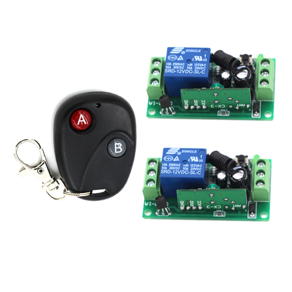 Remote Control Switches DC 9V 12V Micro Cicuit Remote Switch Relay Learning Smart Home Automatic Normally Open Close 315/433MHZ 315 433mhz 12v 2ch remote control light on off switch 3transmitter 1receiver momentary toggle latched with relay indicator