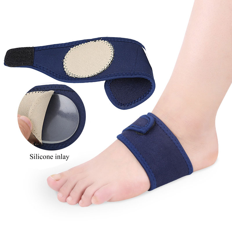1Pair Arch Support Brace Plantar Fasciitis Strap For Foot Pain High Arches & Flat Feet Compression Wrap Insert For Under Socks