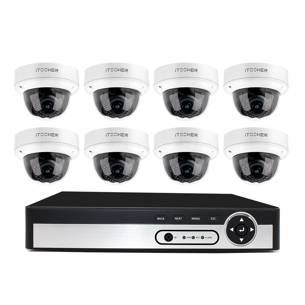 H265 5.0MP HDMI NVR IP IP66 POE NVR Sistema De CCTV Interior câmera P2P Onvif Vigilância de Segurança Kit de Detecção De Movimento Visão APLICATIVO Completo HD