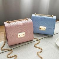 Simple Alligator Crocodile Leather Mini Small Women Crossbody Bag Chain Women S Handbag Messenger Shoulder Bag