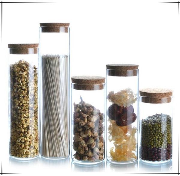 Glass storage bottle jars 1 pcs food container kitchen for Glass jar kitchen ideas
