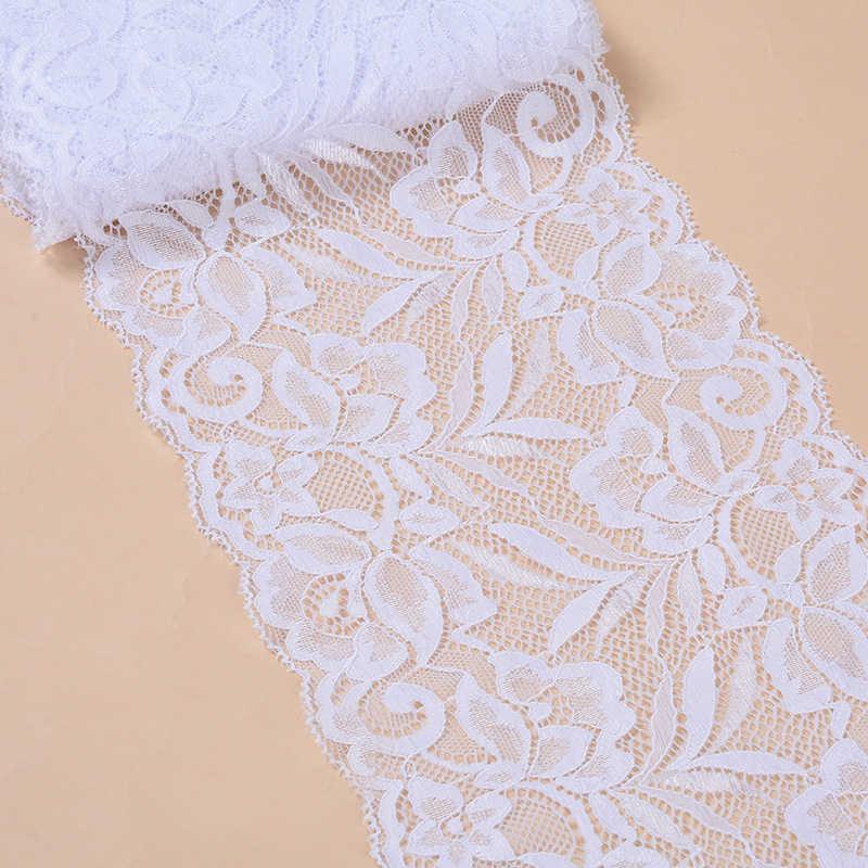 10 метров 15 см в ширину нейлоновая эластичная кружевная отделка Набор «сделай сам» для Костюмы аксессуары на голову Швейные Аппликации стрейч французская кружевная ткань