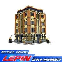 Новый Лепин 7968 шт. 15016 натуральная Moc творческий серии Apple Университет Набор строительных блоков Кирпичи игрушки Совместимость legoed