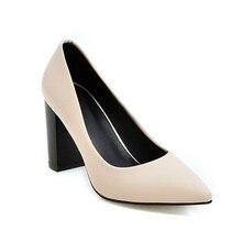 54f29a3b Feiyitu mujer boda bombas más tamaño 34-43 Shallow Sexy tacones altos  Zapatos Beige negro marrón punta estrecha Calzado mujer bo.