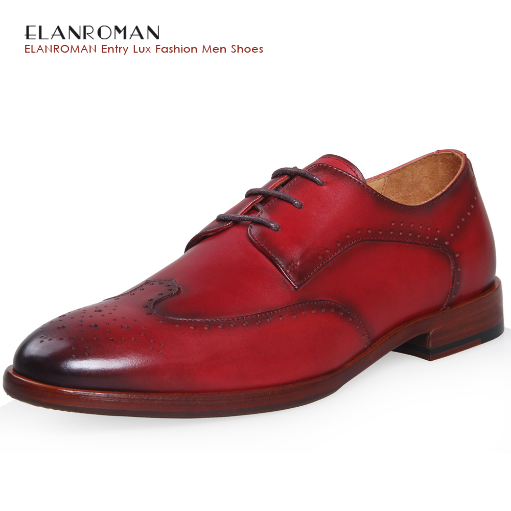 ELANROM Summer Men Formal Derby Wedding Dress Shoes Cow Genuine Leather Lace-up Round Toe Latex Height Increasing 30mm Massage elanrom summer men formal derby wedding dress shoes cow genuine leather lace up round toe latex height increasing 30mm massage