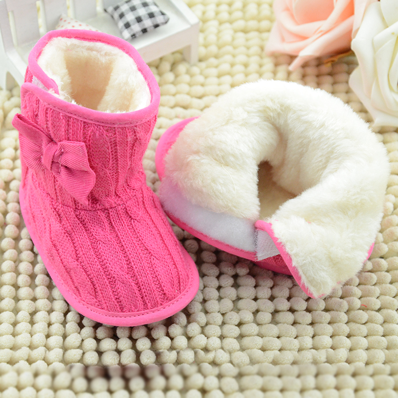 2017-New-Baby-Girl-Knit-Bowknot-Faux-Fleece-Snow-Boot-Soft-Sole-Kids-Wool-Baby-Shoes-First-Walkers-Size-111213cm-Infant-boots-1