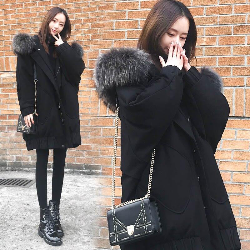 Coton De Jacket En Manteau Pour Femmes Hiver Vêtements Noir D'hiver Down TEqx51T
