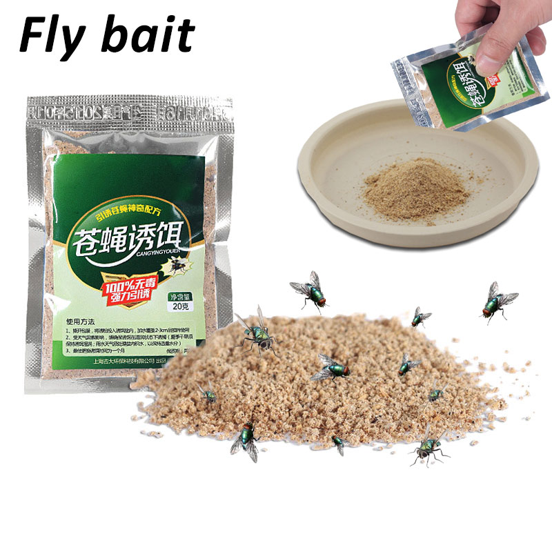 Hot Mosquito Fly Attracting Bag Attractant Flycatcher Practical Convenient Odorless Mosquito Fly Bait Best Price Home Use