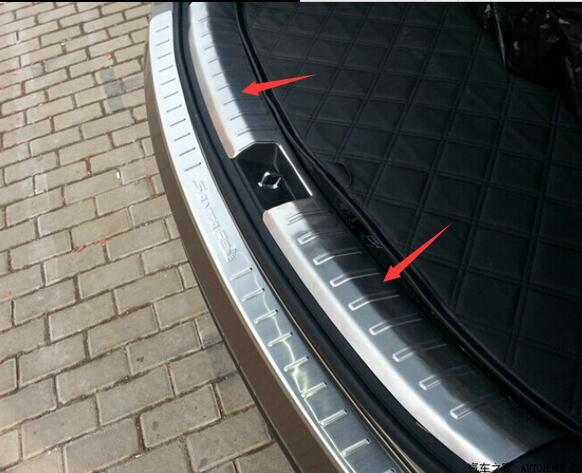 Protective Pad On The Rear Trunk Trim Lid Threshold Rear Internal Door Sill Car Styling For Hyundai IX45 2013