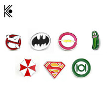 Os Caça-fantasmas Batman Deadpool Marvel Pinos Broches Pinos broches de Flash Capitão América Superman para homens Chapéu crachá prendedor de Gravata Broche(China)