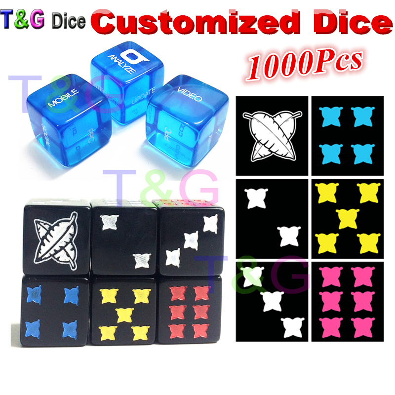 T&G 16mm D6 Colorful Customized Dice/Die for Personalized Logo!Printed or Laser Engraved Custom Logo Dice,as Wedding Gift!