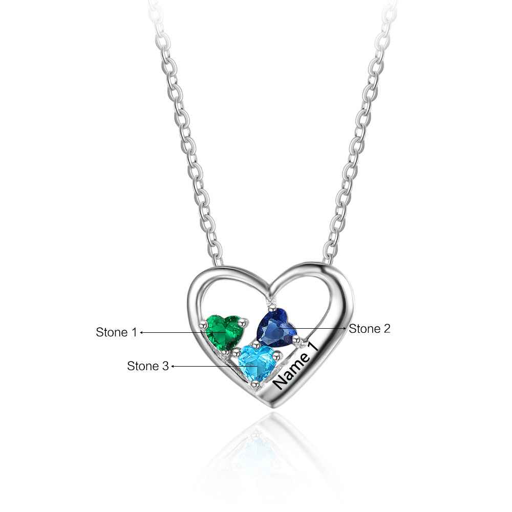 custom s birthstone stone loving tree pendant heart family necklace eve addiction