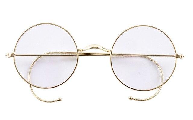 cc001414df381 Agstum 47mm Fio Aro Prescrição Óptica Rodada Rare Estilo Harry Potter Óculos  de Armação Sem Óculos