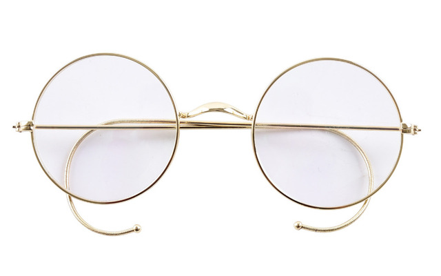 640b78b121 Agstum 47mm Round Optical Rare Wire Rim Prescription Harry Potter Style Eyeglasses  Frame Without Nose Pads
