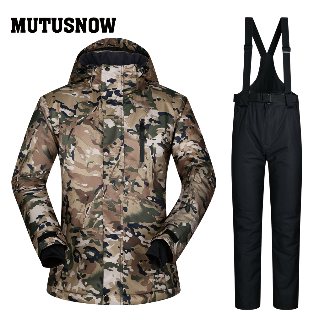 Ski Suit Men Brands Jackets And Pants Windproof Waterproof Breathable Winter CLMCTZ Male Wear Men Skiing And Snowboarding Suits 2018 new lover men and women windproof waterproof thermal male snow pants sets skiing and snowboarding ski suit men jackets