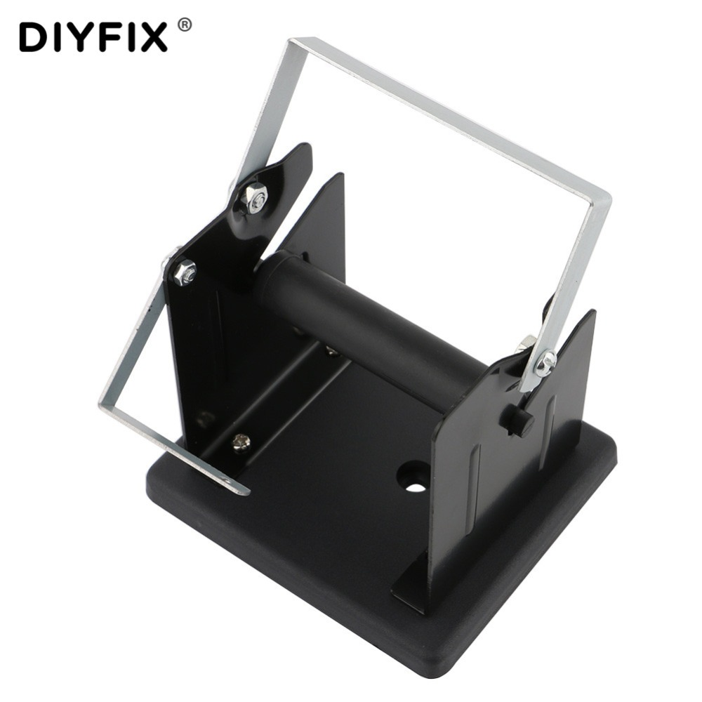 DIYFIX Tin Lead Soldering Wire Metal Holder Stand Welding Solder Wire Roll Spool Support Base