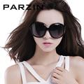 Parzin óculos polarizados óculos de sol mulheres retro feminino óculos de sol de design da marca de grandes dimensões óculos shades gafas de sol com caso 6216