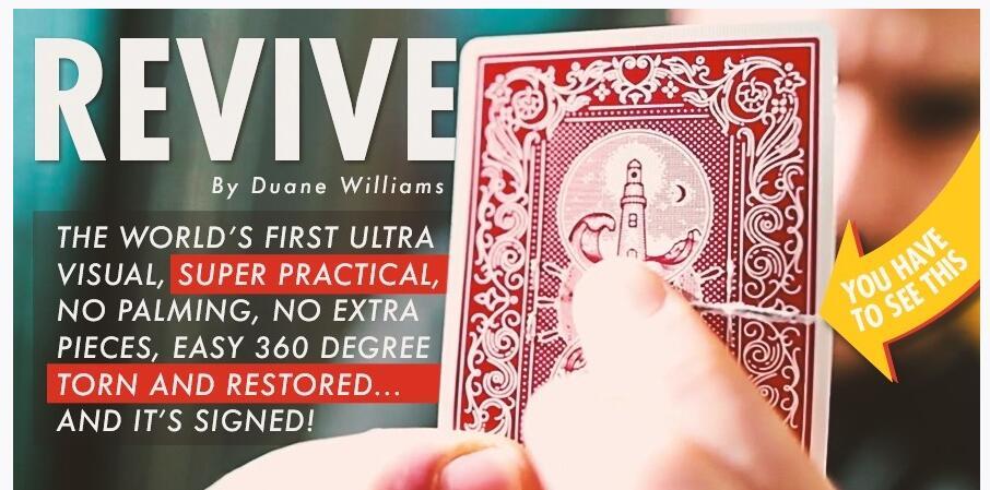 Revive by Duane Williams - Magic tricks bravura by paul daniels magic tricks