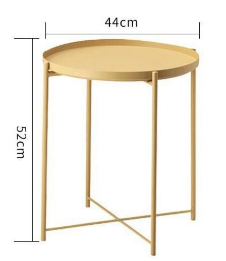 44*52cm Round Coffee Tables Iron side table tea table