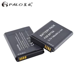 Image 1 - PALO 6X BP 70A BP 70A BP70A Recarregável Bateria de íon Li Para Samsung PL80 PL90 PL100 ES70 SL50 SL600 ST30 ST60 ST65 TL105 câmera
