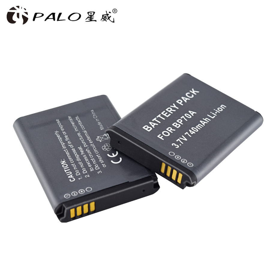PALO 6X BP 70A BP 70A BP70A Rechargeable Li ion Battery For Samsung PL80 PL90 PL100 ES70 SL50 SL600 ST30 ST60 ST65 TL105 camera-in Digital Batteries from Consumer Electronics