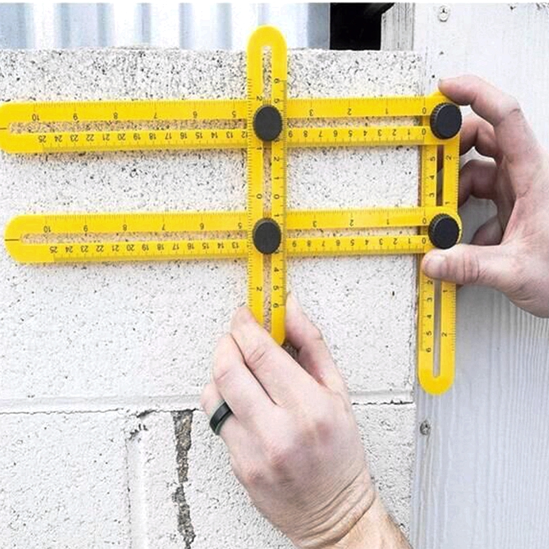 Professional template tool angle measurement protractor multi-angle scale architect artisan engineer layout multi-purpose ruler 7 square carpenter s measuring ruler layout tool triangle angle protractor
