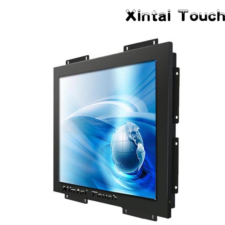 Metal Frame S-Video 4:3 17 Inch open frame lcd monitor 4/5-Wire Resistive Touch screen Computer Monitor 19 open frame touch for inch metal wall mount touch monitor industrial 5 wire resistive touch monitor