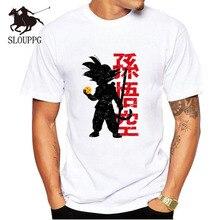SLOUPPG New 2019 T Shirts Men Super Saiyan Printed T-shirt Round Neck Top Tees Man Casual Short Sleeve Summer Clothing