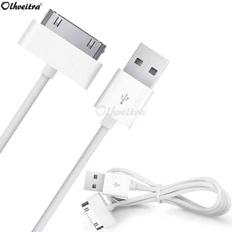Olhveitra USB Cable Fast Charging For iphone 4 4s 3gs 3G iPod Nano iPad 2 3 Cable USB Charger Cable Adapter Chargeur Kabel Wire(China)
