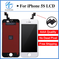 10PCS Grade AAA LCD Display For IPhone 5S Touch Screen With Digitizer Glass Assembly Replacement No