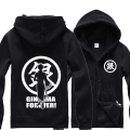 Anime GINTAMA hoodies men zipper and sweatshirts  hip hop  bape hoodie streetwear tracksuit