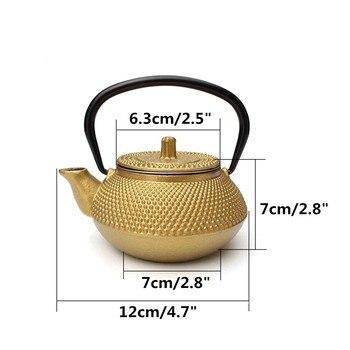 Cast Iron Tea Pot Teapot Japanese Style Kettle With Strainer Flower Tea Puer Kettle Coffee Teapot 300ml 6