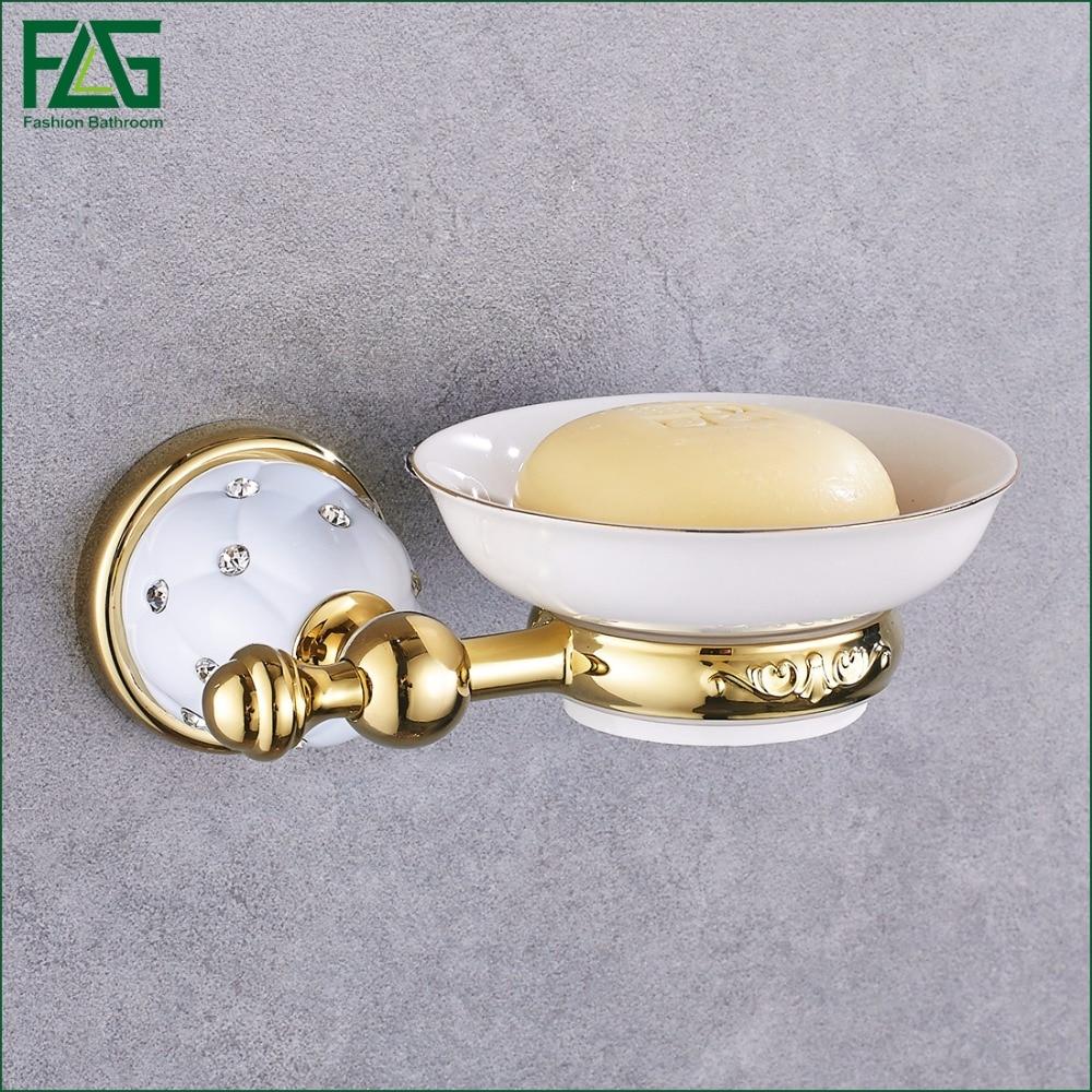 FLG New Golden Finish Brass Flexible Soap Basket /Soap Dish/Soap Holder /Bathroom Accessories,Bathroom Furniture Toilet Vanity
