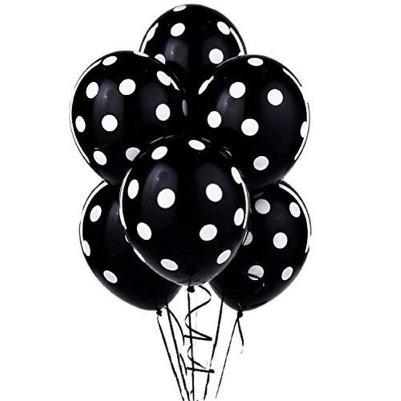 Beyaz lekeli ile 40 adet siyah beyaz kırmızı ve siyah balonlar - Tatiller ve Partiler Için - Fotoğraf 2