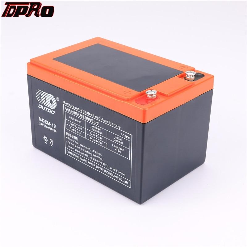 TDPRO batterie Rechargeable de moto 6dzm12 remplacer 6DZM12 12 v 15Ah AGM plomb acide pour Scooter Pit Bike