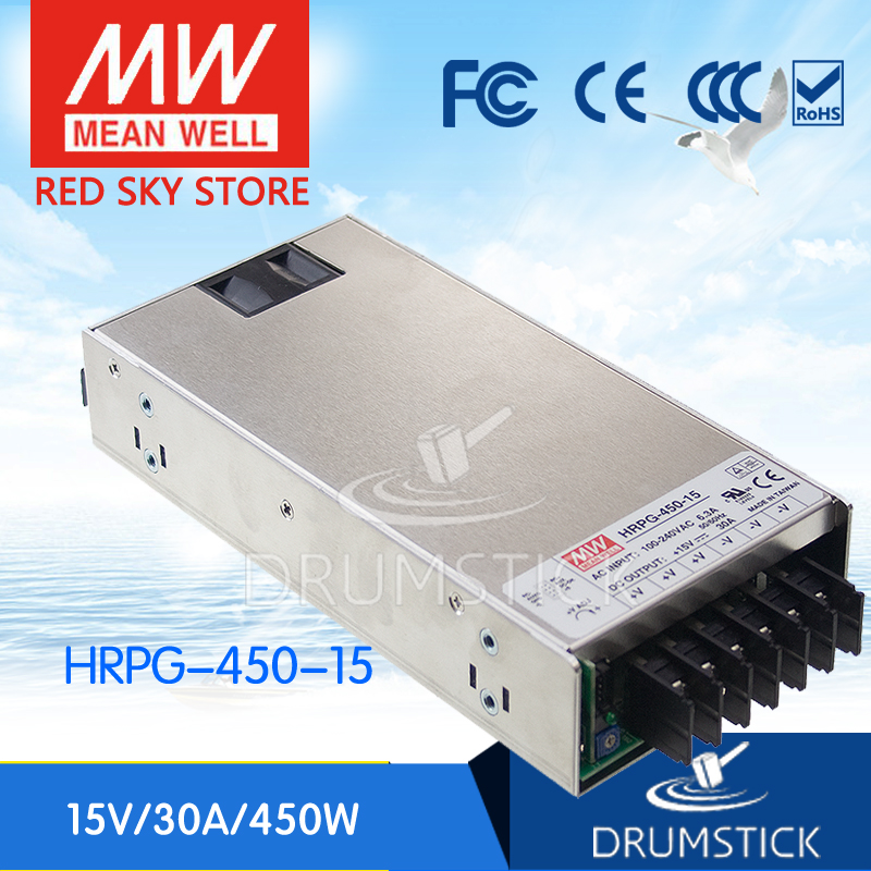 best-selling MEAN WELL HRPG-450-15 15V 30A meanwell HRPG-450 15V 450W Single Output with PFC Function  Power Supply [Real1]