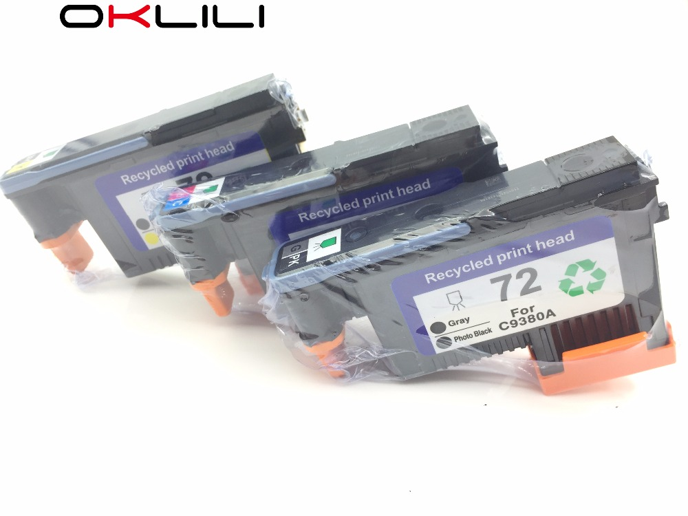 Image 2 - C9380A C9383A C9384A Printhead Print head for HP 72 DesignJet T1100 T1120 T1120ps T1200 T1300 T1300ps T2300 T610 T770 T790 T795-in Printer Parts from Computer & Office