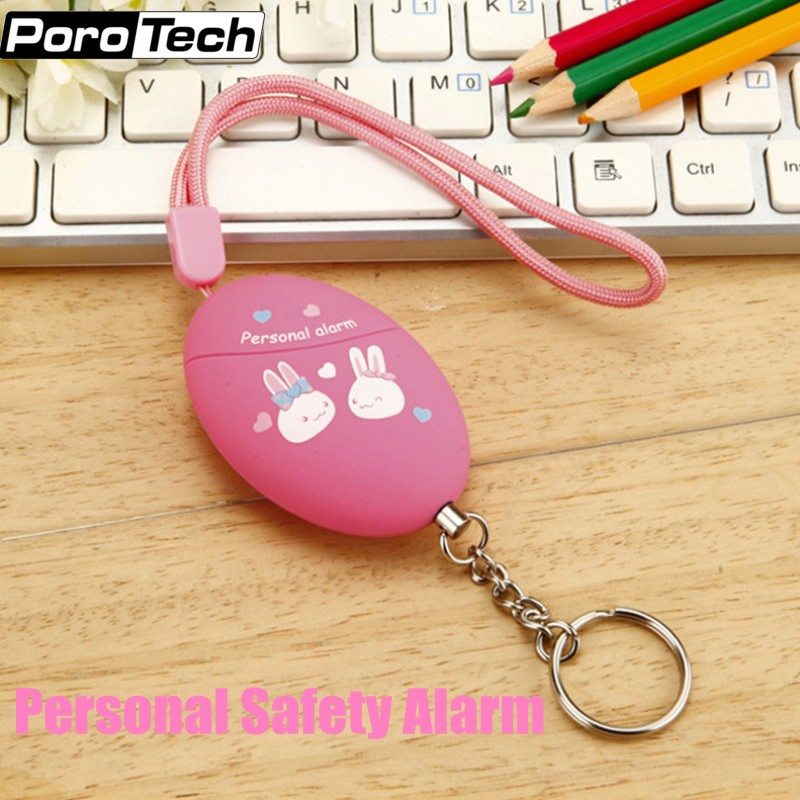 Wholesale 50pcs/lot 120db Self Defense Personal Alarm Keychain Anti-Attack Safety Alarm Bag Decoration For Girls Kids Students
