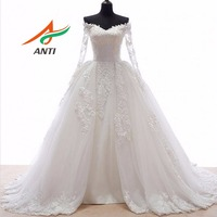Romantic Ball Gown Wedding Dress With Long Sleeves Detachable Skirts Robe De Mariee Bridal Gowns Free