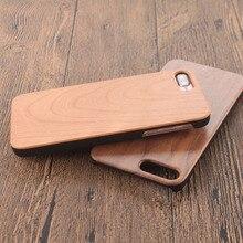Ясно деревянная крышка для samsung Galaxy S5 A5 2017 натуральный бамбук Защитный чехол для iPhone X 7 8 5 6 S Plus телефон случаях Coque