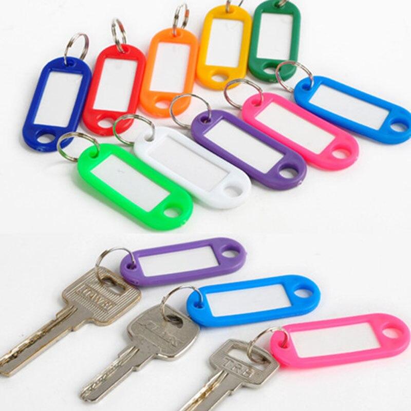 إعادة 500 قطعة/الوحدة البلاستيك المفاتيح مفتاح الكلمات id تسمية الكلمات مع الانقسام ل الأمتعة مزيج اللون 5 سنتيمتر * 2.2 سنتيمتر سلاسل-في سلاسل المفاتيح من الإكسسوارات والجواهر على  مجموعة 2