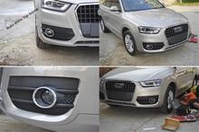 Снаружи Chrome спереди Туман свет лампы кольцо крышки отделка 2 предмета для Audi Q3 2013 2014 2015