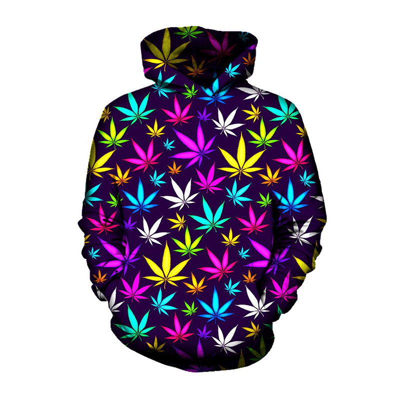 Weed Leaf Hoodies Men Women Plus Size 3d Sweatshirt Sportwear Autumn Winter Hooded Pullover Sudaderas Hombre Tracksuit