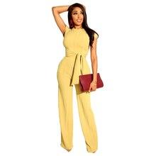 Plus Size  Womens Fashion High Waist Slim Sleeveless Two Pieces Set Casual Chiffon Pencil Pants