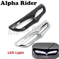 Batwing Kuip Vent Accent Trim w/LED Licht voor Harley Touring Electra Glide Ultra Classic FLHTCU/Road King FLHR 2014-2017